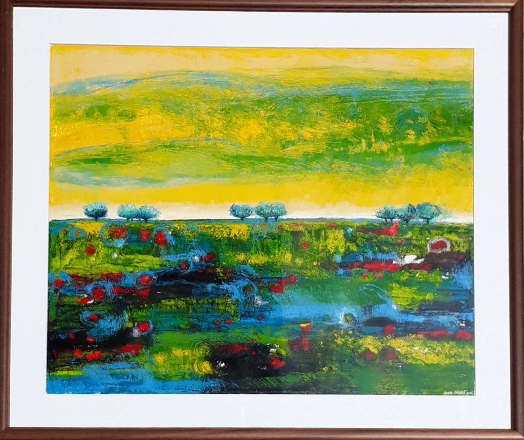 ASK Summer Inmersed in greenery 65 x 55 cms $900